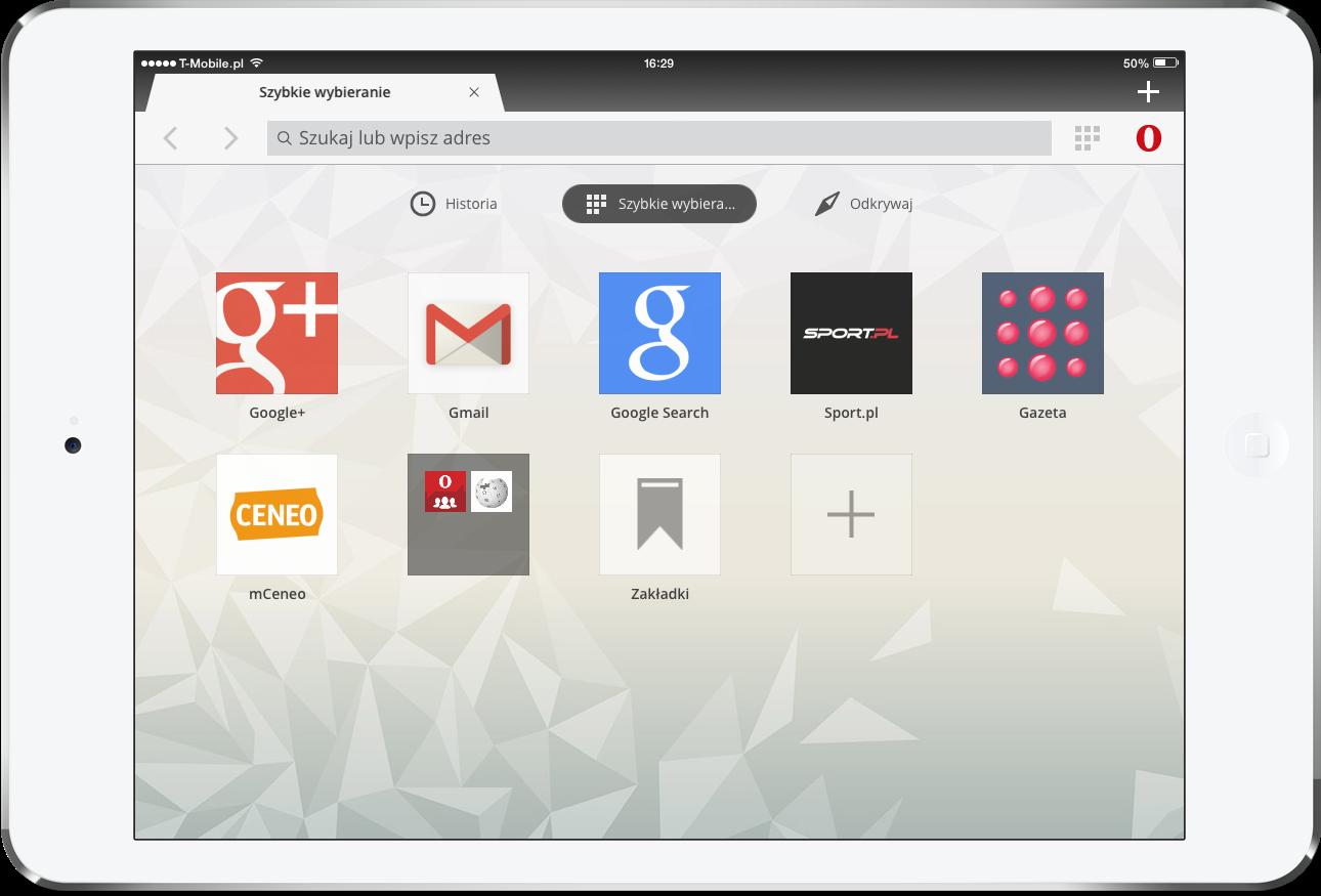 Opera mini na iPada