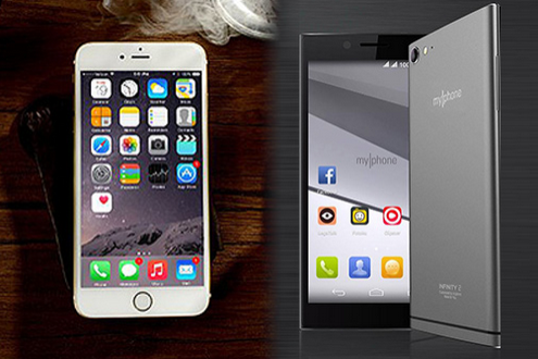 Apple-iPhone-on-the-left-and-the-myphone-on-the-right