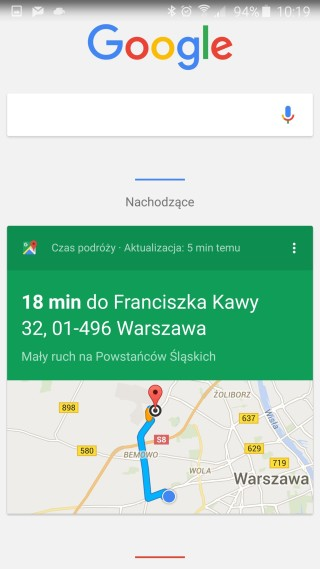 Informacje o podróży