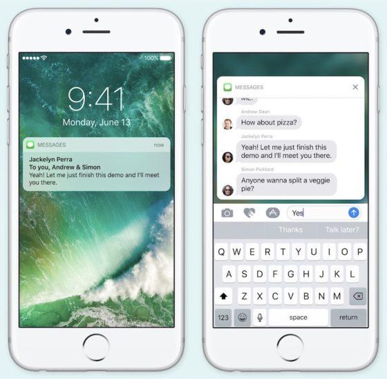 Powiadomienia iOS 10
