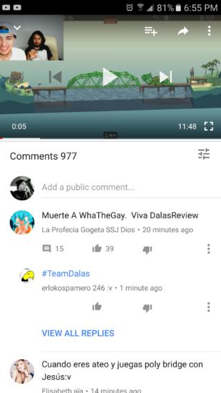 YouTube komentarze