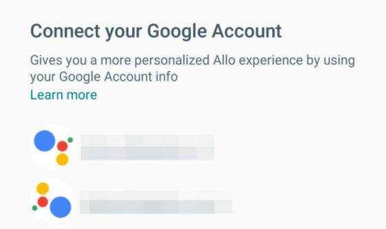 Google Allo konto Google