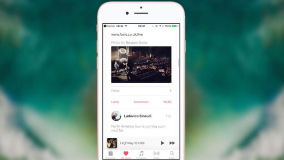 iOS 10 Apple Music Muzyka Mapy Apple