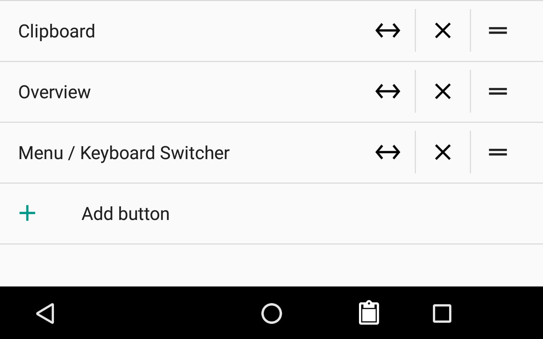 Android 7.0 Nougat pasek nawigacji