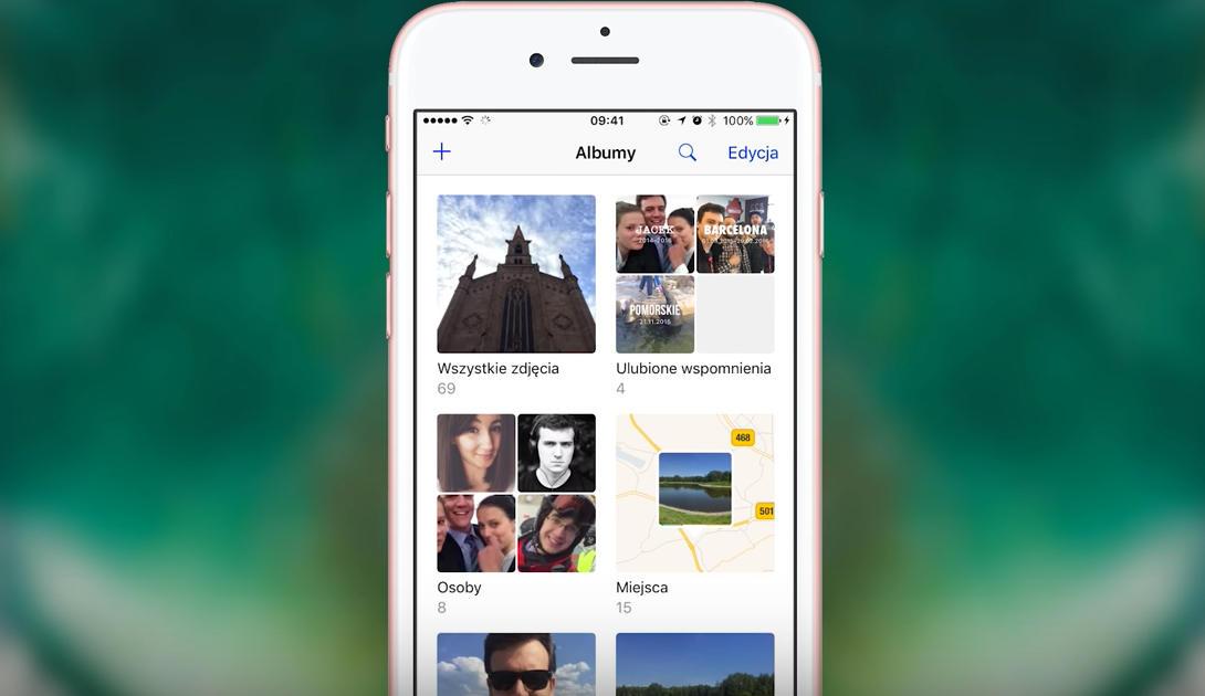 Zdjęcia iOS 10