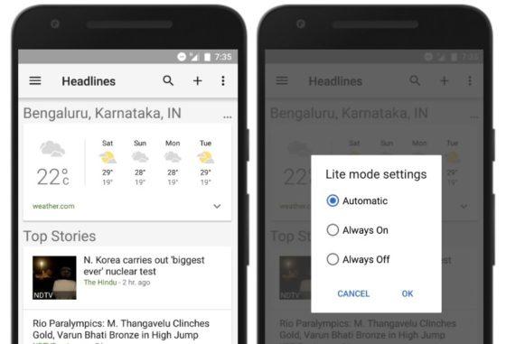 Wiadomości i pogoda google 2