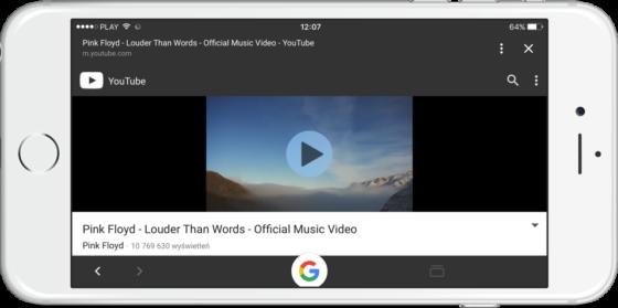 Aplikacja Google na iOS