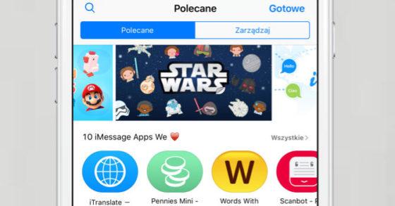 iMessage App Store aplikacje Wiadomości