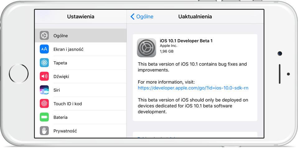 iOS 10.1 beta 1