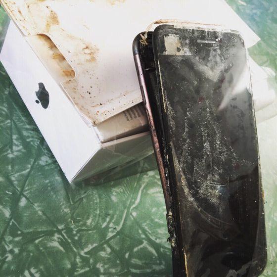 Spalony iPhone 7