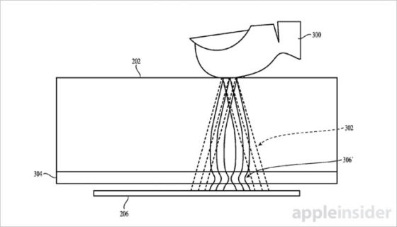 Apple iPhone 8 Touch ID na ekranie patent