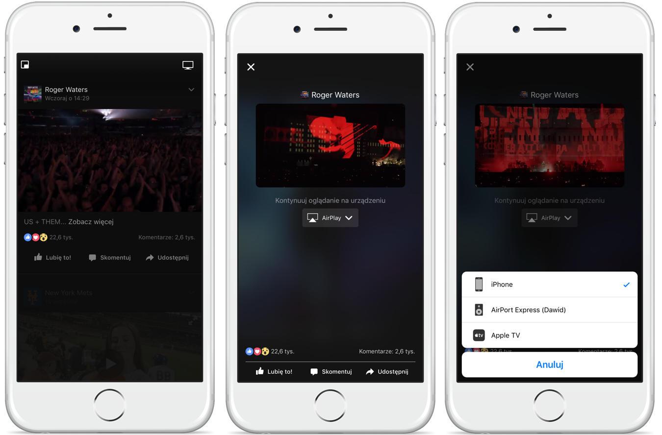 Facebook Apple TV AirPlay Chromecast