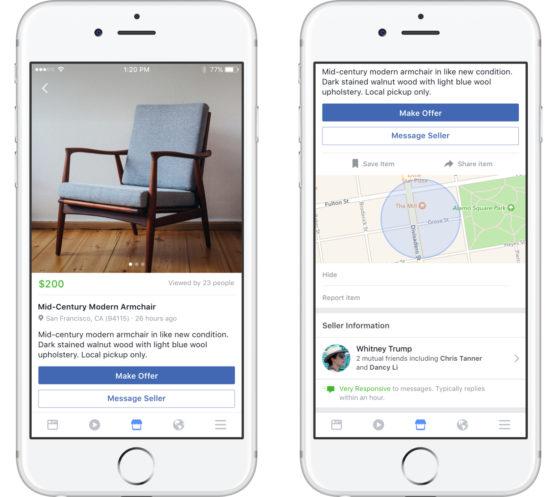 Facebook Messenger Marketplace