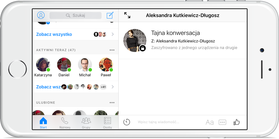 Facebook Messenger tajne konwersacje