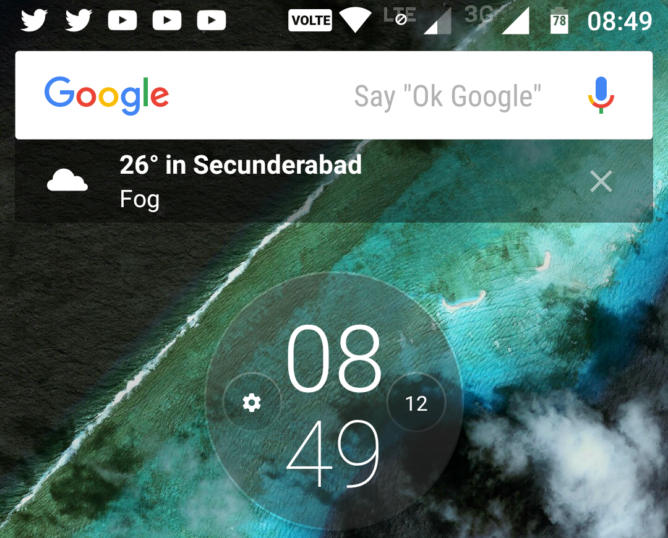 Google Now Launcher widżet