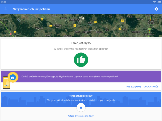 Mapy Google 9.39 beta Ruch