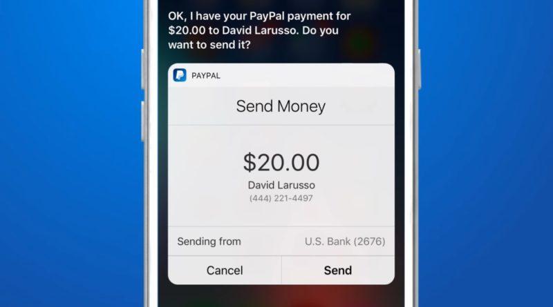 PayPal Siri