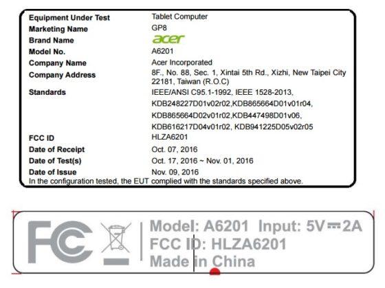 Acer GP8 a6201