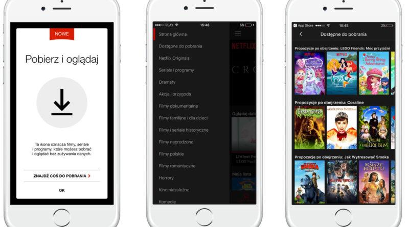 Netflix offline pobieranie filmów