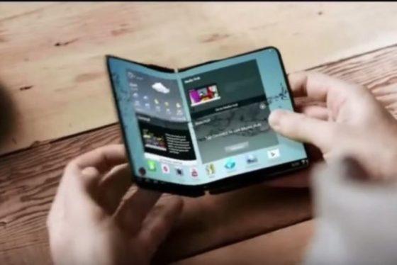 składany smartfon Samsung Galaxy X prototyp