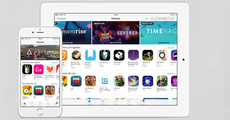 Najlepsze aplikacje i gry 2016 App Store