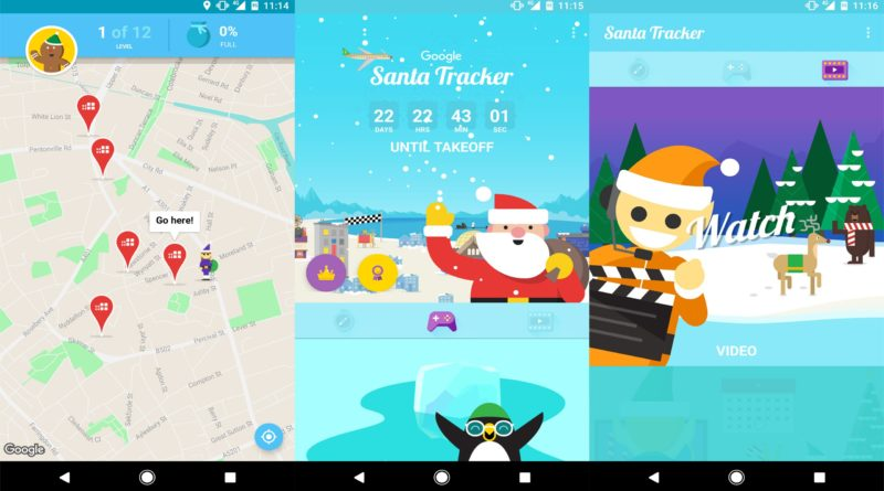 Google Santa Tracker Pokemon Go