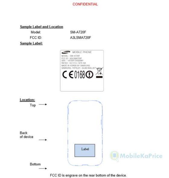 Samsung Galaxy A7 (2017) FCC