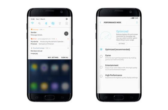 Android 7.0 Nougat samsung