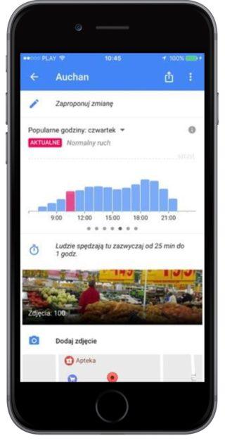 Mapy Google iOS