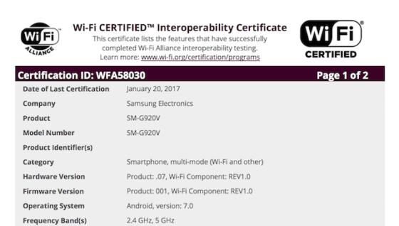 Samsung Galaxy S6 aktualizacja Android 7.0 Nougat