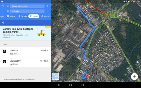mapy google uber