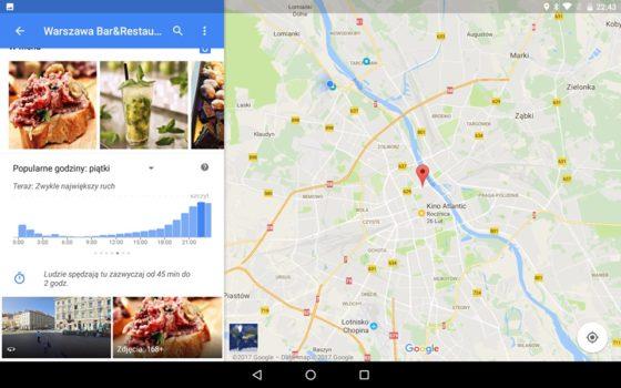 Mapy Google natężenie ruchu
