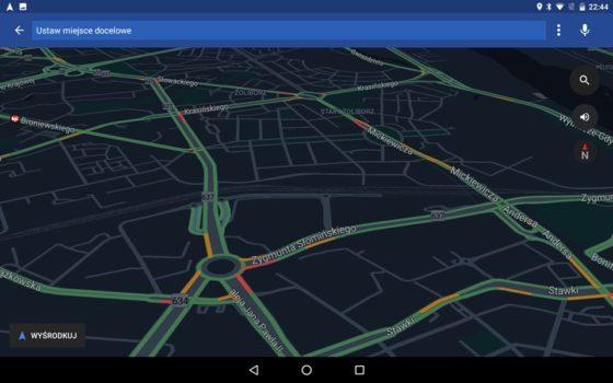 Mapy Google tryb samochodowy