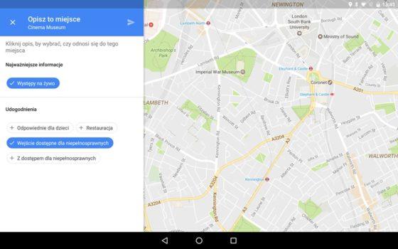 Mapy google miejsca dla niepełnosprawnych