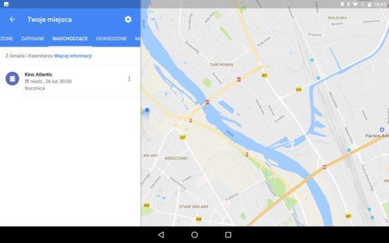 Mapy google nadchodzące wydarzenia
