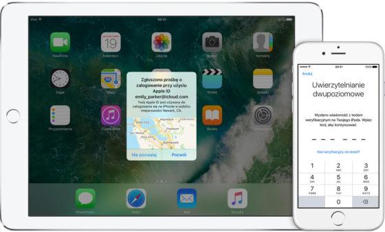 Apple ID iOS 10.3 uwierzytelnianie dwupoziomowe