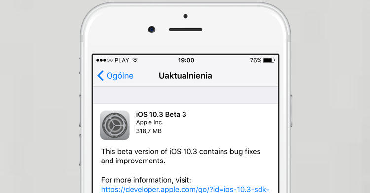Apple iOS 10.3 beta 3