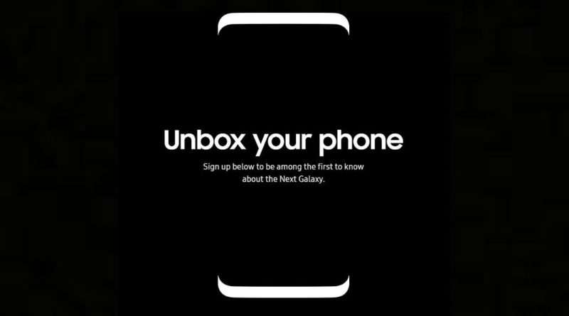 Samsung Galaxy S8 Unpacked strona z newsletter