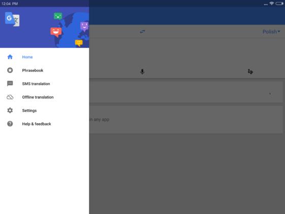 Tłumacz Google 5.8 Google Translate 5.8