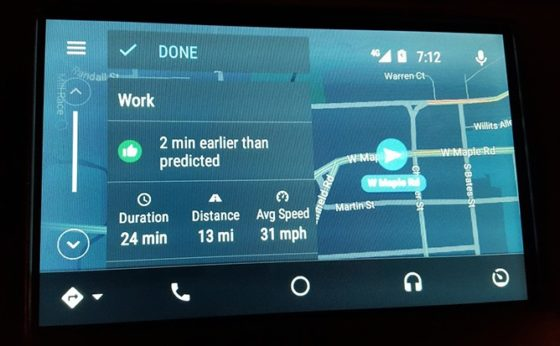 Mapy Google 9.49 beta Android Auto