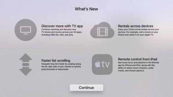 Apple TV tvOS 10.2 beta