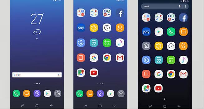 Samsung Galaxy S8 launcher aplikacji i ikony