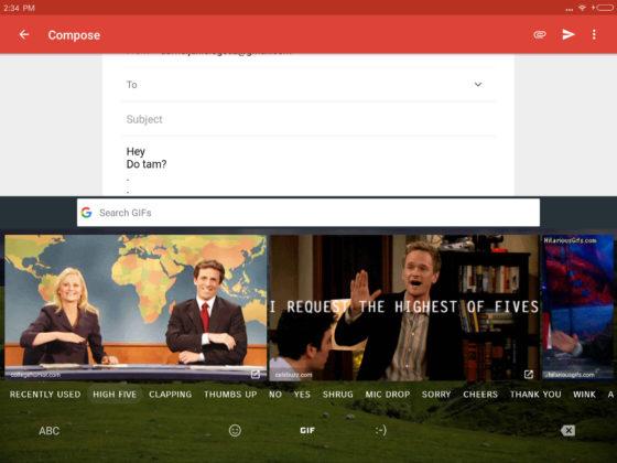 Gmail Google Gboard