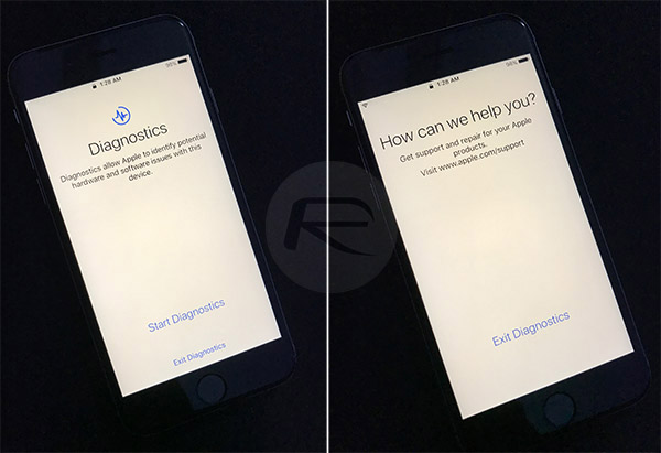 iOS 10.3 CheckerBoard tryb diagnostyczny