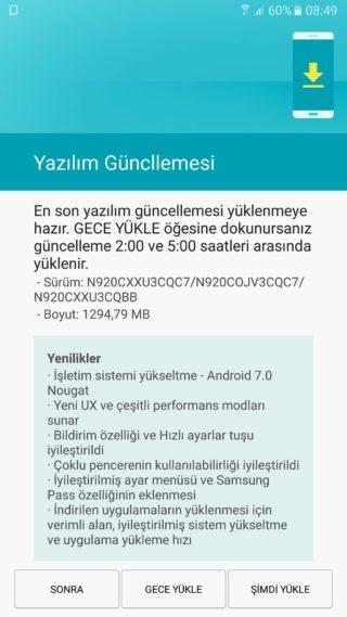 Samsung Galaxy Note 5 Android 7.0 Nougat aktualizacja