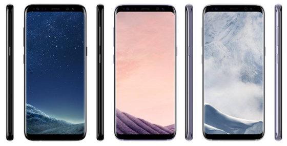 Samsung Galaxy S8 Black Sky Arctic Silver Orchid Grey