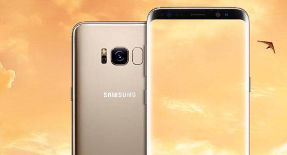 Samsung Galaxy S8 Orchid Grey złoty