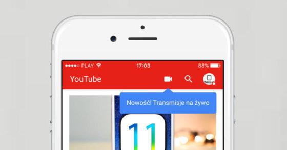 YouTube transmisje na żywo
