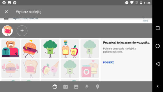 Wiadomości na Androida 2.2 Android Messages