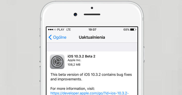 Apple iOS 10.3.2 beta 2